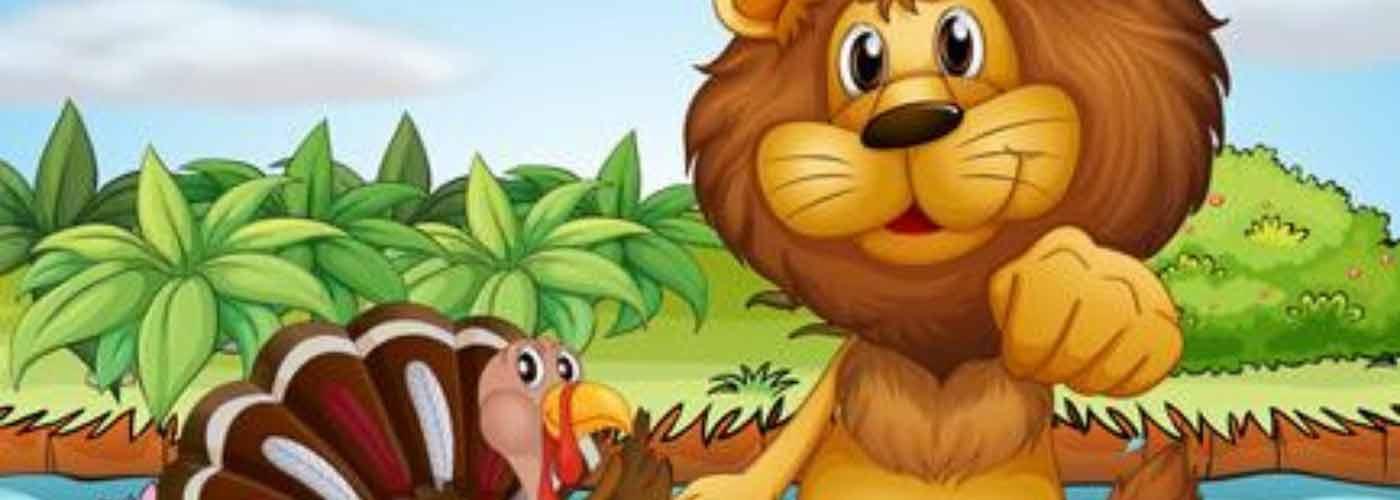 el león y el pavo cuento infantil