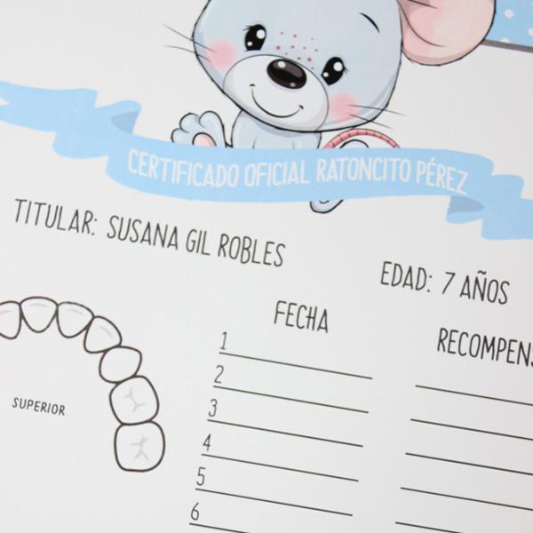 Lámina Ratoncito Pérez personalizada para regalar